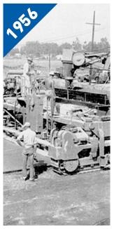First Slipform Paver 1956