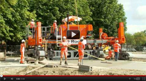 Highway and Airport Concrete Slipform Paving Equipment Video