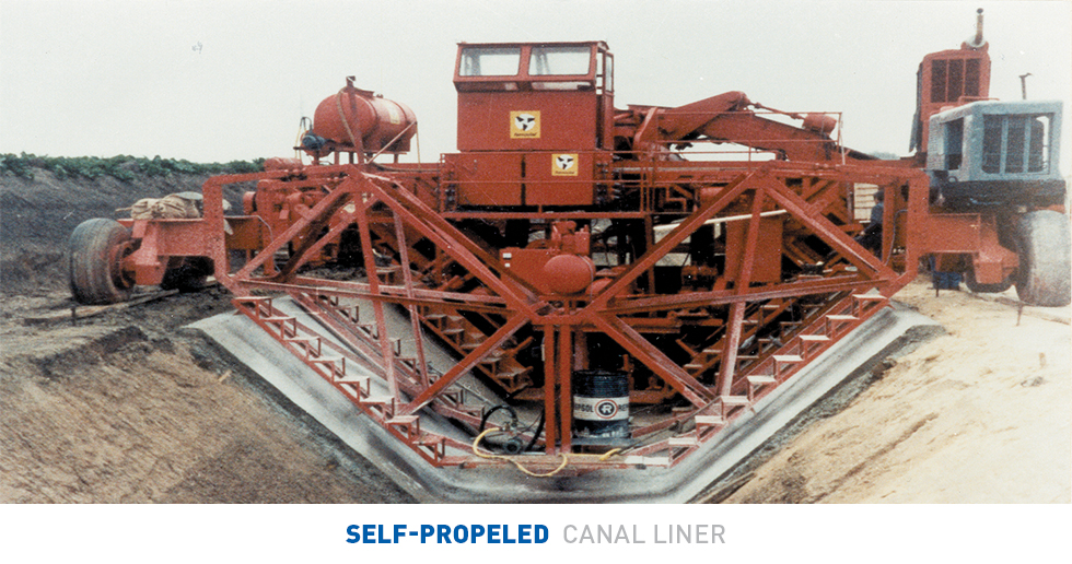 Concrete Canal Self Propelled Liner