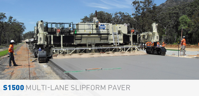 S1500 Multi-Lane Concrete Slipform Paver