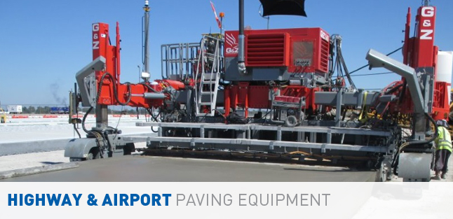 Highway and Airport Slipform Pavers and Slipform Paving Equipment